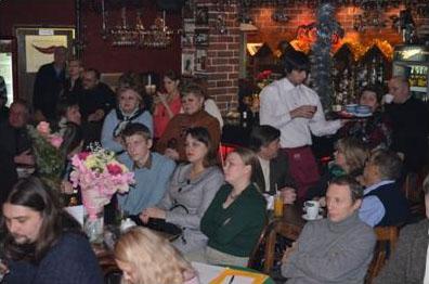 литературный вечер в кафе «Алиби»