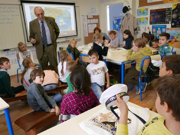 Встреча с учащимися Французской школы