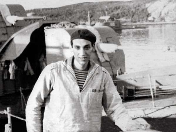 Лев Лапкин на военных сборах в Североморске