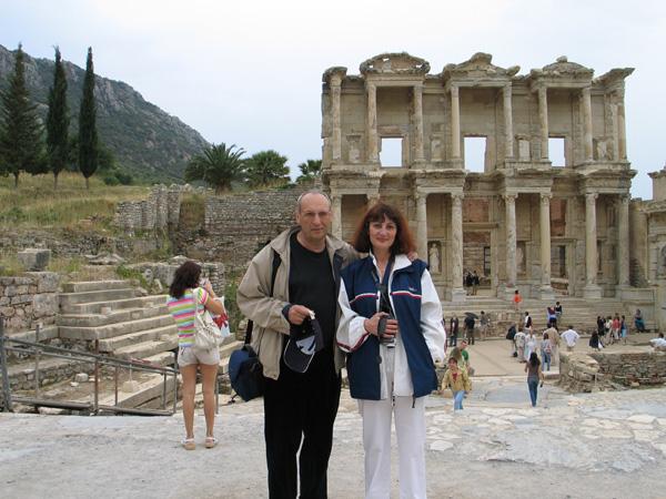 Лев Лапкин с женой Ириной, 2000-е годы