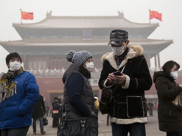 Китай в дыму и красных флагах